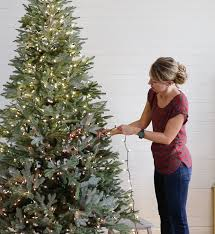 tutorial for adding lights to a tree hanging