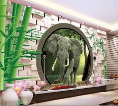 3d mural custom photo wallpaper 3d stereoscopic leafy bamboo garden door