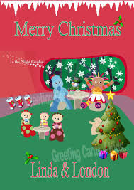 personalised night garden christmas card