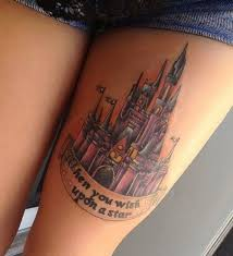 cute thigh tattoo design for girls styles time
