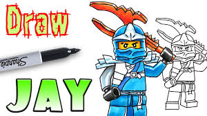 how to draw jay ninjago lego coloring pages youtube