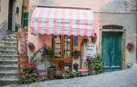 Front Awning Cinque Terre Store Front Awning Italy Text Building Exterior