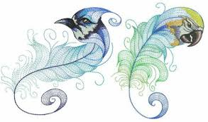 fantastic feather embroidery designs