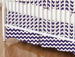 crib skirt purple chevron zigzag crib skirts sheets sheetworld