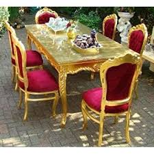 Baroque Dining Table Baroque Dining Room Set Bordeaux Gold Dining Table 6 Chairs