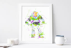 buzz lightyear poster toy story poster pixar print