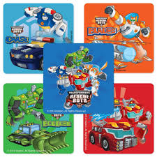transformers rescue bots stickers birthday and theme