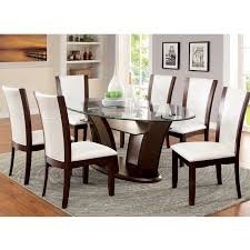 oval glass dining table chintaly imports oval glass top dining table