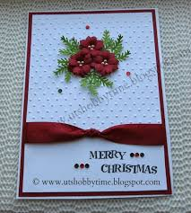 uts hobby time christmas card and handmade poinsettia paper