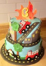 firetruck cakes firetruck and car cake cake by chrissa s cakes cakesdecor