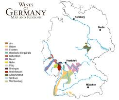 map of regions of germany german wines maps and regions