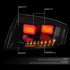 audi brake light 06 audi tt mk1 typ 8n pair of black housing smoked lens 3d led