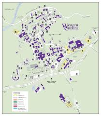 University Of Tennessee Parking Map by Western Carolina University Commuter Map