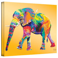 home decor elephants abstract elephant painting oil on canvas the ride hand painted art
