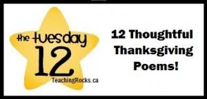 the tuesday 12 12 thoughtful thanksgiving poems teaching rocks