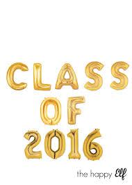 class of 2016 graduation 16 gold class of 2016 balloons banner class of 2016