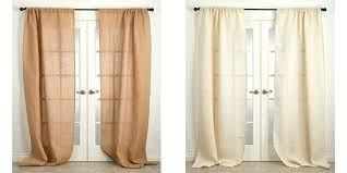 Smocked Burlap Curtains Smocked Burlap Drapery Panels Burlap Curtain Panels 96 Smocked