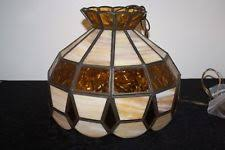 vintage stained glass swag lamp ebay