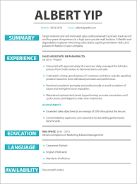 example resume for retail cv sample retail sales jobsdb hong kong cv sample retail sales