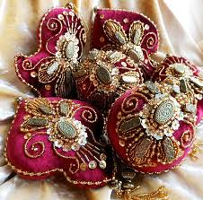 beautiful embroidered ornaments magic beaded
