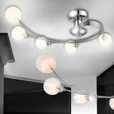 Lampen Wohnzimmer Led Elegante Led Deckenleuchte Aus Metall Und Glas Lampen U0026 Möbel