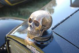 model t skull rat rod car mascot ornament ornaments