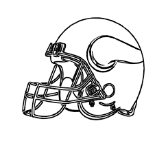 football helmet vikings minnesota coloring page for kids kids
