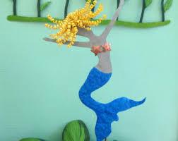 Mermaid Garden Decor Blonde Mermaid Etsy