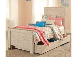 ashley signature design willowton two tone twin panel bed with