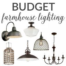 Farmhouse Ceiling Light Fixtures Budget Farmhouse Lighting The Turquoise Home