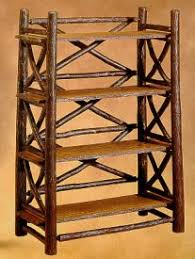 Rustic Book Shelves by Bookcases By Old Hickory