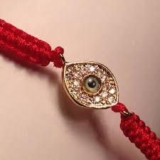 braided cord bracelet images Pave cz evil eye red braided cord bracelet in yellow gold tone jpg