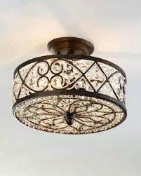 surface mount ceiling fan semi flush chandelier and elk 3 3 light inch antique semi flush