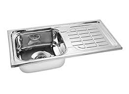 Gargson Kitchen Sink With Drain Board Stainless Steel Sink Size - Kitchen ss sinks