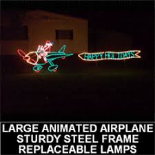 Animated Outdoor Christmas Decorations by Christmas Lawn Theme North Pole Airport Legendary Christmas Ideas