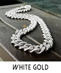 white chain necklace images Chains kingice jpg
