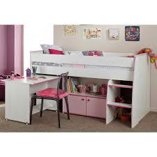 bureau surélevé lit combiné surélevé avec bureau et rangement intégrés 1 personne