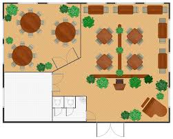 Floor Plan Layout Maker Cafe Floor Plans Professional Building Drawing