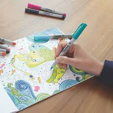 sharpie coloring kit aquatic theme coloring book with 20