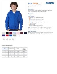 gildan 18600b youth heavy blend full zip hooded sweatshirt 16 22