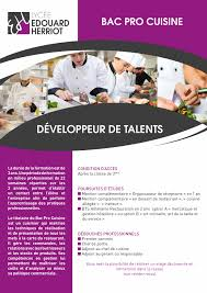 pro en cuisine bac pro cuisine lycée edouard herriot