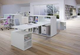 Minimalist Office Desk Gray Wall Paint Office Desk Minimalist Office Reception Round
