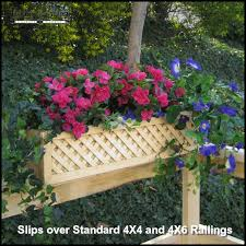Rail Hanging Planters by Lattice Rail Flower Box Is A Superb Addition To Decks