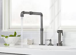 what to look for in a kitchen faucet customizable industrial type faucet design from watermark best of