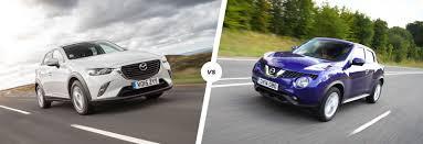 mazda xc3 price mazda cx 3 vs nissan juke crossover clash carwow