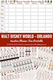 christmas planner template walt disney world orlando vacation planner free printable free printable walt disney world orlando vacation planner week to view calendar