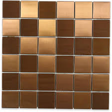 splashback tile metal copper 2 in squares 12 in x 12 in x 8 mm