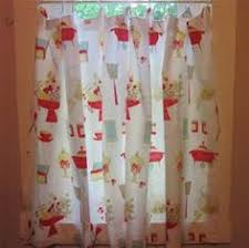 valance curtain 18 x 40 cotton upick fabric retro kitchen retro
