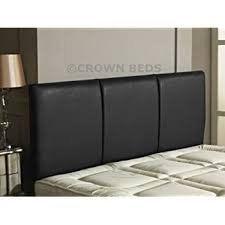 Black Headboards For Double Beds by Faux Leather Black Crystal Diamante Double Bed 4ft6 Standard Size