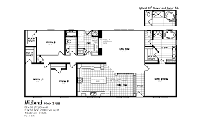 4 bedroom mobile home floor plans ideas and double wide homes